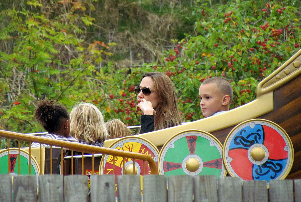 Angelina Jolie with daughter Zahara at Legoland.
