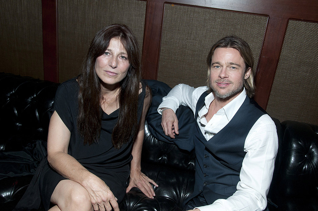 Brad Pitt and Moneyball costar Catherine Keener.