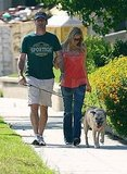 Jon Hamm and Jennifer Westfeldt take a walk in LA.