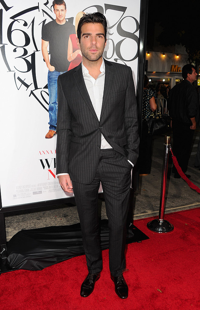 Zachary Quinto at the LA premiere of What's Your Number.