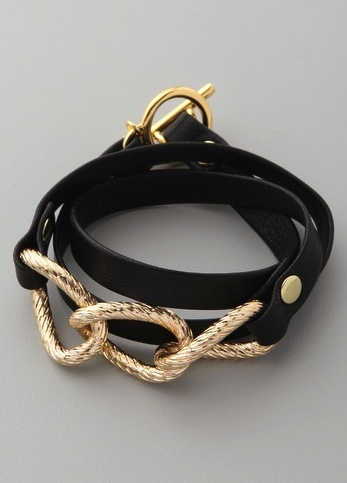 Gorjana Parker Leather Wrap Bracelet ($49)