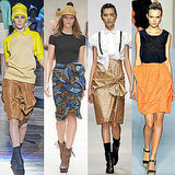 Draped Pencil Skirts