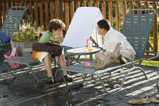 Rico Rodriguez as Manny and Nolan Gould as Luke on Modern Family.  Photo copyright 2011 ABC, Inc.