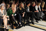 Kate Moss and husband Jamie Hince in the front row.