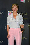 Bar Refaeli wears pink pants in Spain.