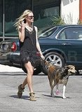 Kate Bosworth and Lila headed home.