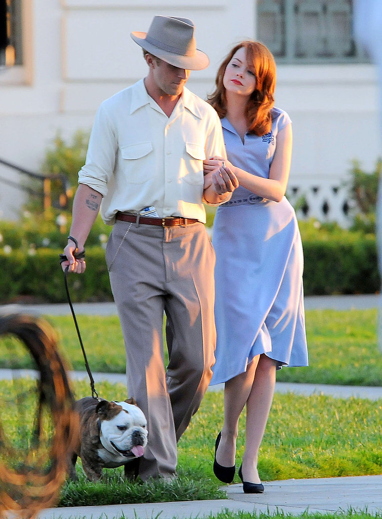 Emma Stone and Ryan Gosling went for a sunset walk.