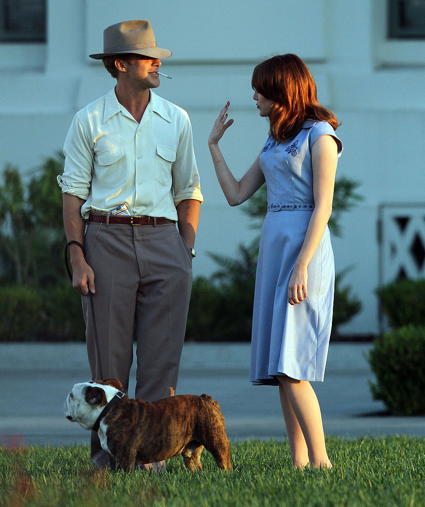 Emma Stone entertained Ryan Gosling on The Gangster Squad set.