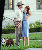 Emma Stone watched Ryan Gosling while filming a scene for The Gangster Squad.