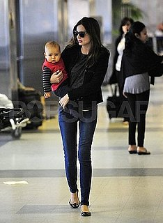 Miranda Kerr Pictures at LAX With Flynn Bloom