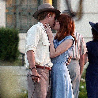 Ryan Gosling and Emma Stone Kissing on Set Pictures