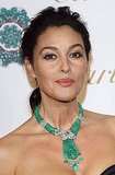 Monica Bellucci wowed with Cartier jewels in a beautiful emerald hue.