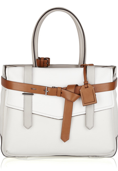 This preppy tote is anything but boring thanks to the camel belt detail. Reed Krakoff Boxer Leather-Detailed Canvas Tote ($990)