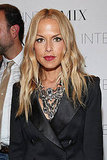 Rachel Zoe shows no fear of statement baubles with a breast plate necklace.