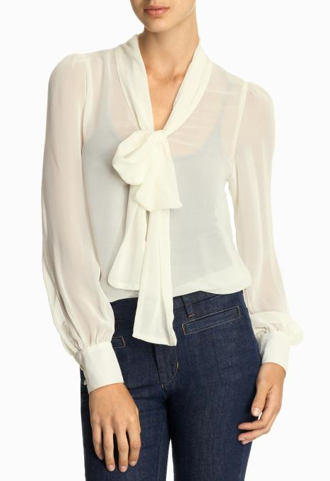 A pussy-bow blouse is a must have, and this comes in a versatile color at the right price. Tinley Road Bow Blouse ($49)