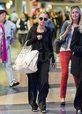 Nicole Richie at LAX after birthday.