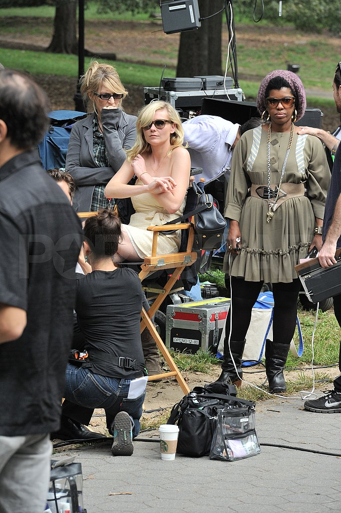 Kirsten Dunst took a break in a director's chair.