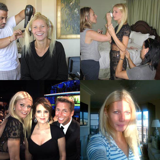 Behind the Scenes With Gwyneth As She Gets Emmys-Ready!