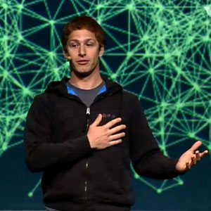 Andy Samberg at Facebook's F8 Developers Conference