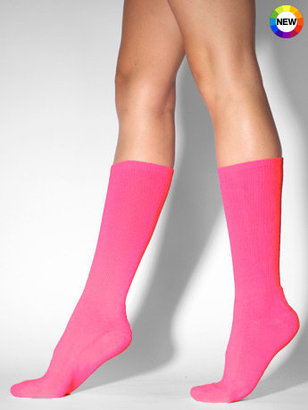 American Apparel Neon Pink Solid Socks ($10)