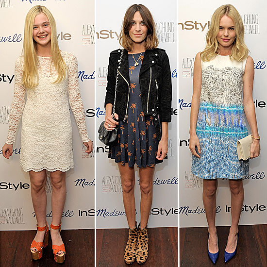 Pictures of Alexa Chung, Kate Bosworth,Elle Fanning and more at the Alexa Chung for Madewell Launch Party at teh Chateau Marmont
