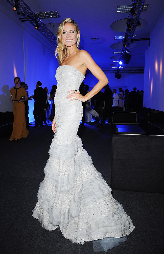 Heidi Klum wore Roberto Cavalli to the gala.