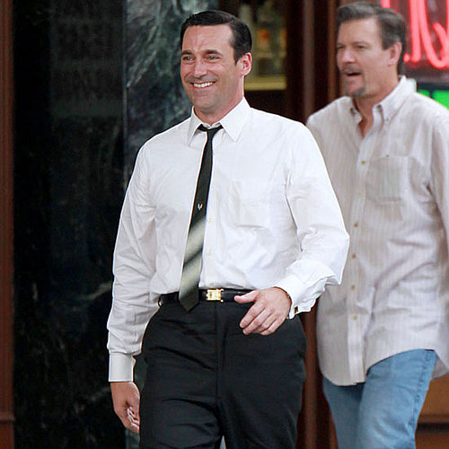 Jon Hamm Filming Mad Men With Vincent Kartheiser Pictures