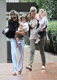 Sarah Jessica Parker out in rainy NYC with her twins.