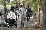 Kate Hudson and Matt Bellamy walk with their son Bingham.