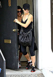 Sandra Bullock leaves the gym.