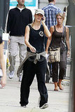 Gisele Bundchen leaves her Boston gym.