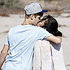 Justin Bieber and Selena Gomez Kissing on the Beach Pictures