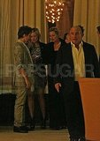 Kate Moss, Kate Hudson, Matt Bellamy, and Philip Green at dinner in London.