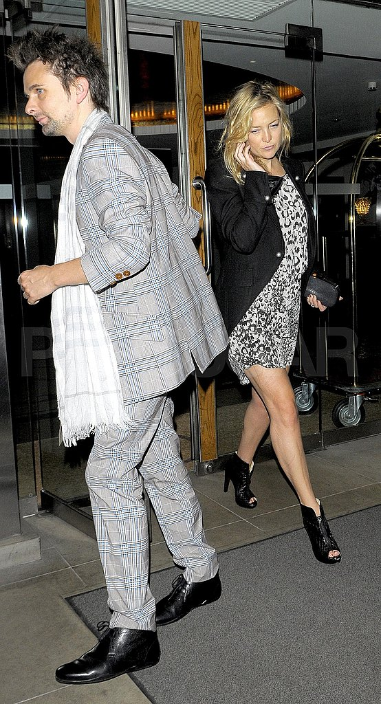 Kate Hudson and Matt Bellamy following a night with Kate moss.
