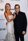 Heidi Klum posed for a photo with Kenneth Cole.