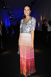 Margherita Missoni wore a design from her namesake brand.