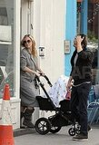 Kate Hudson and Matt Bellamy shop with baby Bingham.
