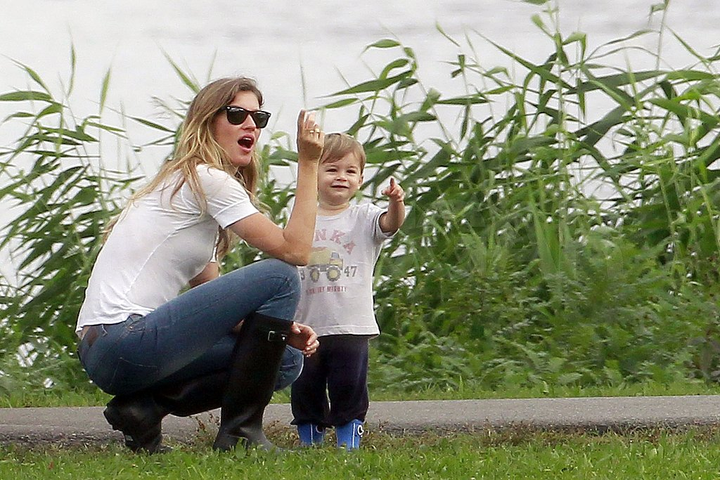Benjamin Brady and Gisele explored the Boston waterfront together.