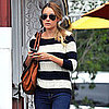 Lauren Conrad in Stripes at Brentwood Country Mart Pictures