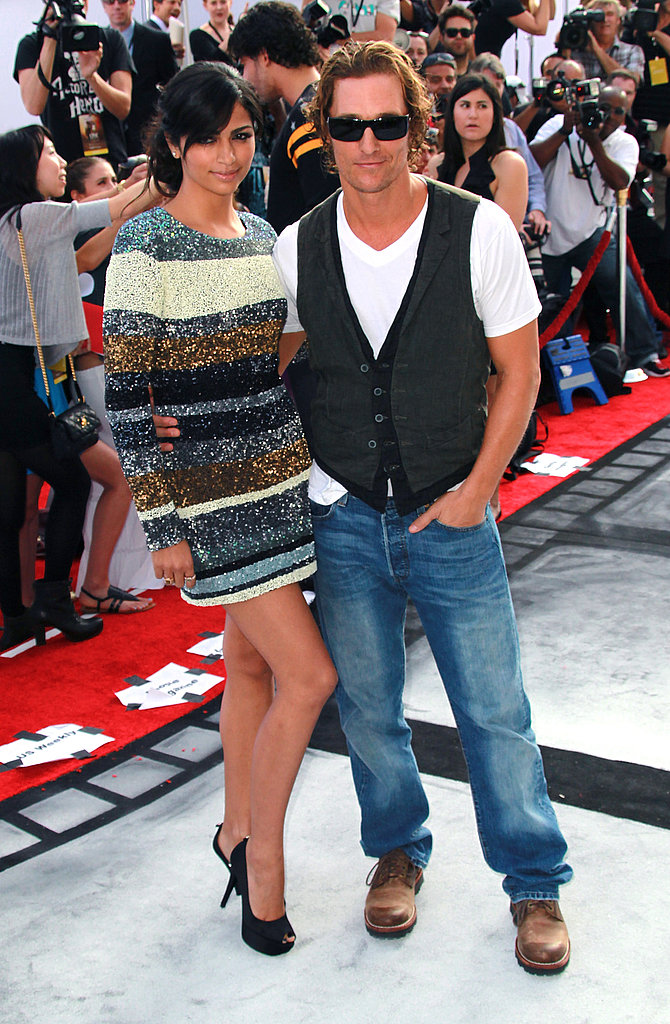 Matthew McConaughey and Camila Alves attended Cirque du Soleil's Iris premiere in LA.