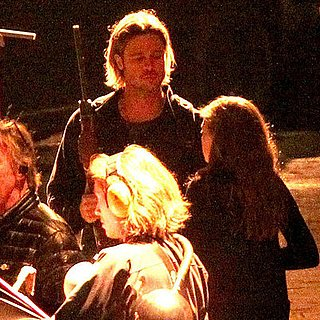 Brad Pitt Pictures Shooting World War Z in London