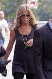 Jennifer Aniston wore all black for her appearance.
