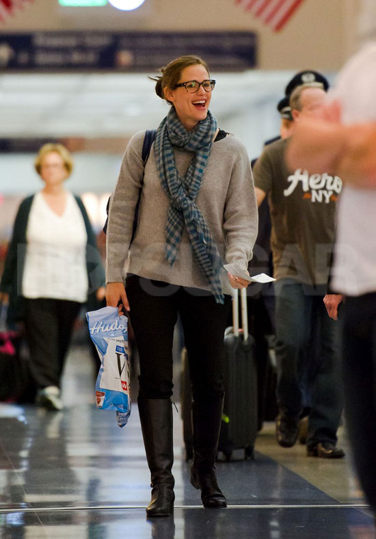 Jennifer Garner laughed at LAX.