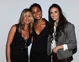 Jennifer Aniston, Alicia Keys, and Demi Moore at Five screening in NYC.