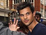 Taylor Lautner went to Radio One in London.