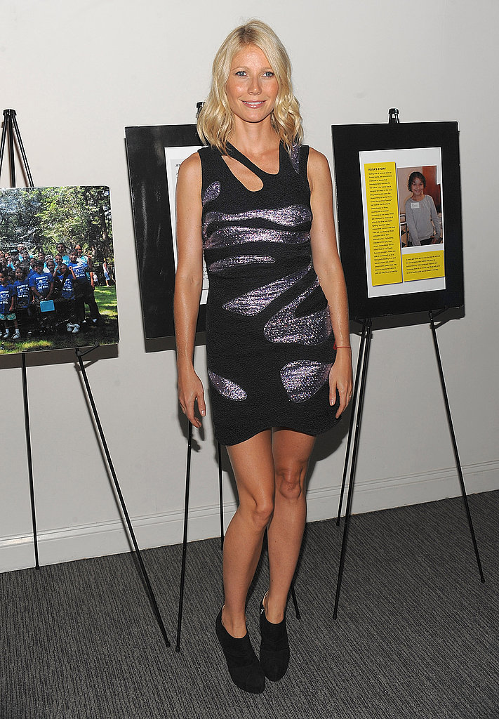 Rocking a cutout, metallic Preen mini at a benefit gala in 2009.