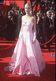Gwyneth dazzled in this bubblegum Ralph Lauren confection as the Oscars darling the year she won for Shakespeare in Love.