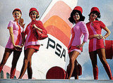 These PSA stewardesses are not afraid of heights.