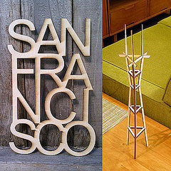 San Francisco Theme Wooden Home Decor