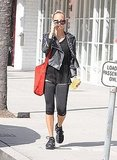 Nicole Richie hit the gym solo in LA.